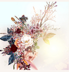 background or with flowers and roses vector image
