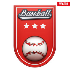 baseball badge and label vector image