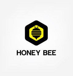 bee concepts logo graphic abstract template vector image