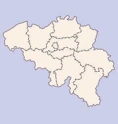 Belgium contour map vector