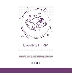 brainstorm project development startup banner with vector image