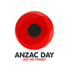 Bright poppy flower remembrance day symbol anzac vector