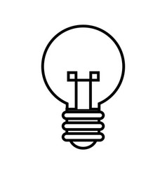 bulb light idea mind creativity icon outline vector image