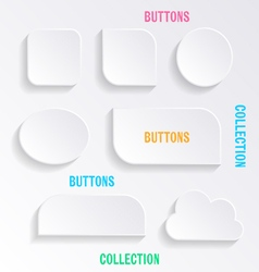 Buttons with shadows vector