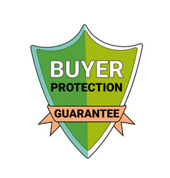 Buyer protection guarantee shield symbol isolated vector