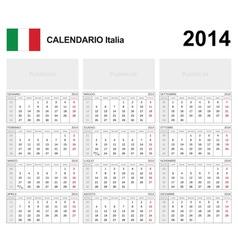 Calendar 2014 Italy Type 19B vector image