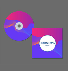 Cd cover presentation design template with copy vector