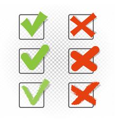 check box set yes no sign vector image