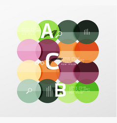 Circle modern geometry infographic background vector
