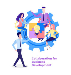 collaboration business development conference vector image