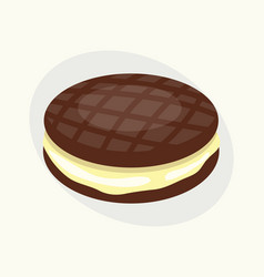 Cookie chocolate homemade breakfast bake cakes vector