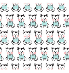 cute dog pattern vector image