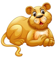 Cute lion with happy face vector