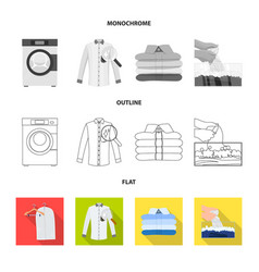 Design of laundry and clean icon vector