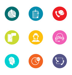 dialer icons set flat style vector image