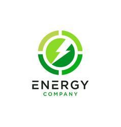 Eco energy logo design vector