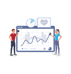 fitness cardiogram vector image