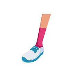 foot sneaker sport concept icon vector image