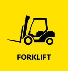 forklift truck icon transportation of cargo and vector image