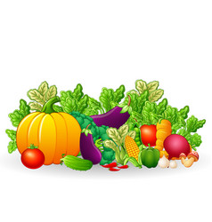 Fruits and vegetables cartoon vector