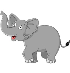 funny elephant cartoon vector image