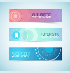 Futuristic banners set vector