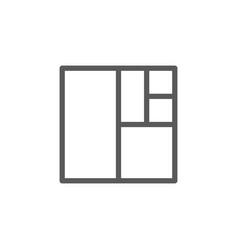 golden ratio square line icon vector image