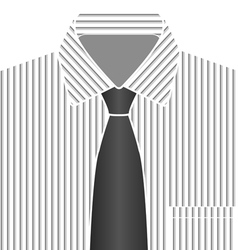 Grey Tone Shirt And Tie vector image