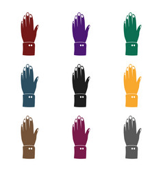 high five icon in black style isolated on white vector image