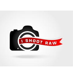 I shoot RawLove photoShoot Raw photo format vector image