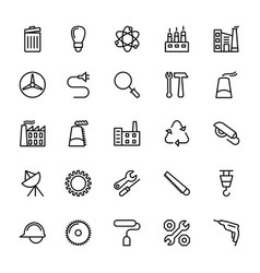 Industrial line icons 1 vector