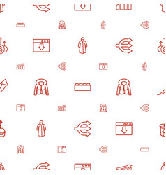 infographic icons pattern seamless white vector image