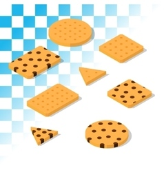 isometric traditional cookies vector image