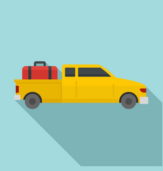 Long travel car icon flat style vector
