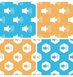 Loudspeaker pattern set colored vector