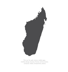 map madagascar isolated vector image