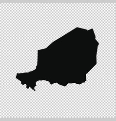 map niger isolated black on vector image