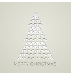 Merry Christmas tree with triangle shape vector