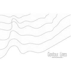 minimal contour lines wave background vector image