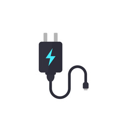 mobile charger on white vector image