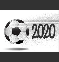 Moving football 2020 vector