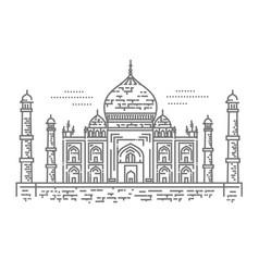 outline taj mahal palace icon vector image