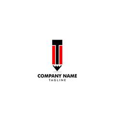 pencil icon logo template vector image
