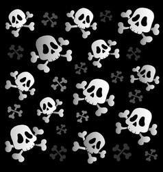 Pirate skulls and bones vector