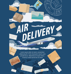 post air mail delivery service vector image