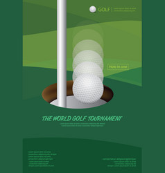 Poster golf tournament championship vector