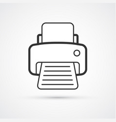 printer flat line trendy icon eps10 vector image