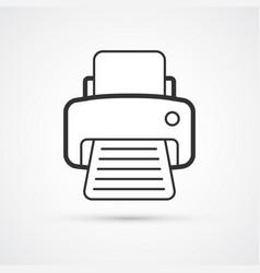 printer flat line trendy icon eps10 vector image