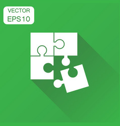 puzzle game jigsaw icon business concept puzzle vector image