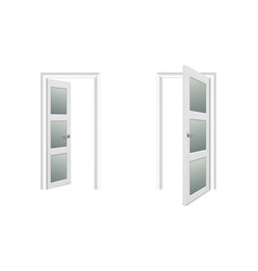 realistic different opened and closed white vector image